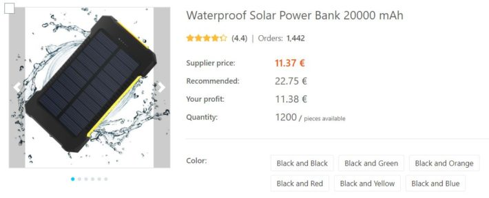 dropshipping batterie solaire