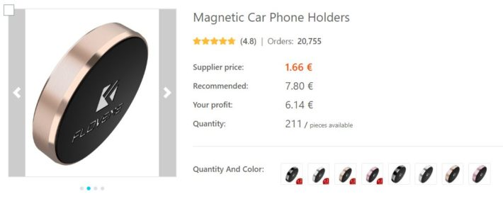 dropshipping support telephone voiture