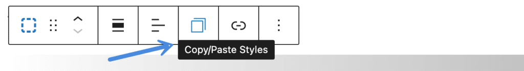 Copy and paste block styles
